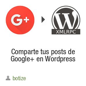 Comparte tus posts de Google+ en Wordpress